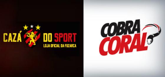 Logo da Cazá do Sport e da Loja Cobra Coral, as lojas oficiais de Sport e Santa Cruz em fevereiro de 2016