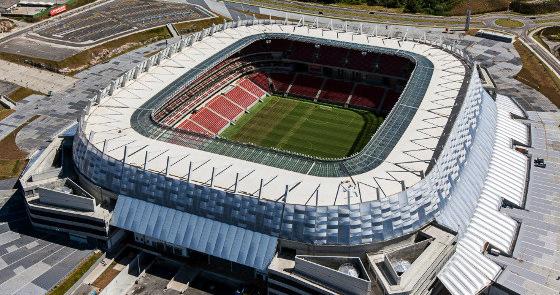 Arena Pernambuco. Foto: Odebrecht/divulgação