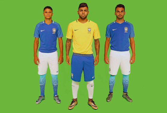 O novo uniforme da Seleção Brasileira em 2016. Crédito: Rafael Ribeiro/CBF