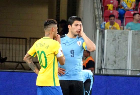 Eliminatórias da Copa 2018, em 25/03/2016: Brasil x Uruguai. Foto: AUF/twitter (@Uruguay)
