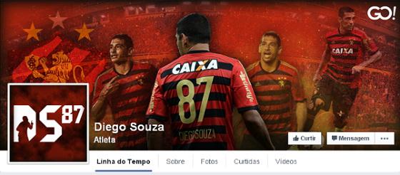 Facebook oficial de Diego Souza. Crédito: reprodução