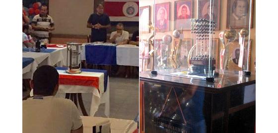 As Taças das Bolinhas de 1988 (Bahia) e 1987 (Sport). Fotos: Bahia/twitter e panoramio.com