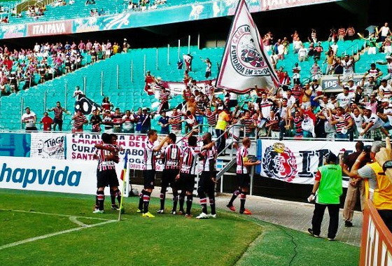 Nordestão 2016, semifinal: Bahia 0x1 Santa Cruz. Foto: Santa Cruz/twitter (@scfc_oficial)