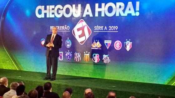Clubes firmados com o Esporte Interativo para o Brasileirão de 2019 a 2024. Crédito: Esporte Interativo/facebook