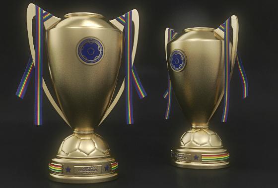 O troféu do Campeonato Pernambucano de 2016. Crédito: FPF/divulgação