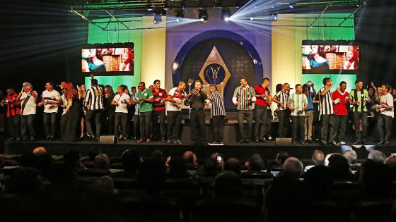O lançamento da música tema do Brasileirão 2016. Crédito: Rafael Ribeiro/CBF