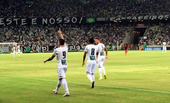Taça Asa Branca 2016, Ceará (4) 3 x 3 (3) Flamengo. Foto: Esporte Interativo/twitter