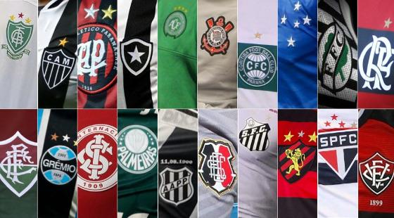 Os 20 clubes da Série A 2016. Crédito: CBF/site oficial