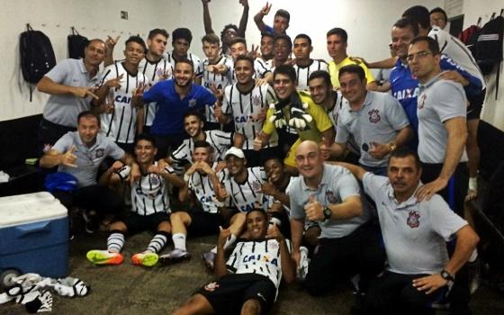 Time Sub 17 do Corinthians na Copa do Brasil da categoria em 2016. Foto: Corinthians/site oficial/divulgação