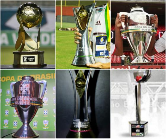 Troféus da Copa Verde, Brasileiro Sub 20, Copa do Brasil Sub 20 e Sub 17, Brasileiro feminino e Copa do Brasil feminina