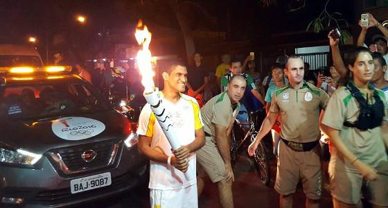 Revezamento da Tocha Olímpica de 2016, em Petrolina. Foto: Comitê Organizador dos Jogos Olímpicos do Rio/twitter (@Rio2016)