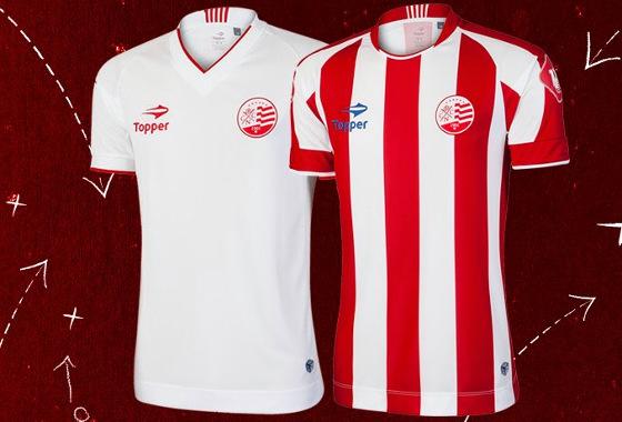 b30bd25bbf Os uniformes do Náutico para a temporada 2016. Crédito  Topper facebook
