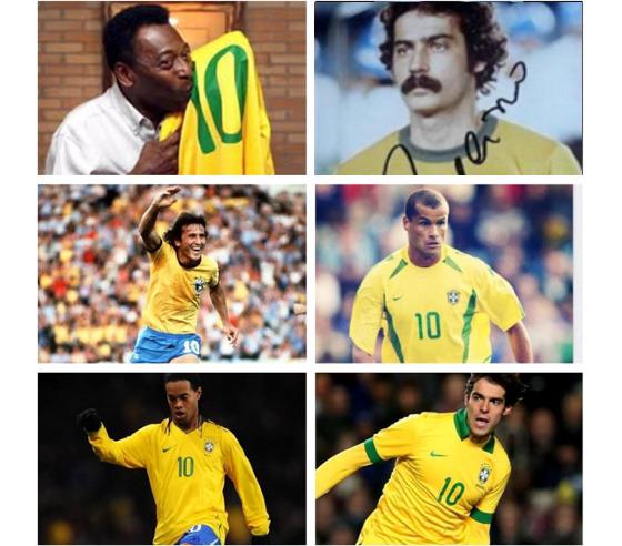Os camisas 10 da Seleção Brasileira. Crédito: Rivaldo/instagram (RIVALDOOFICIAL)