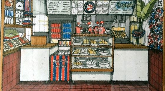 Projeto da rede de fastfood do Bahia. Crédito: divulgação