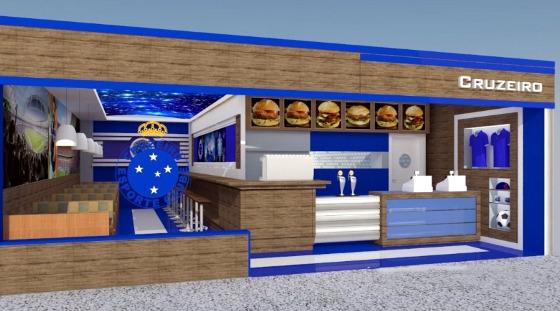 Projeto da rede de fastfood do Cruzeiro. Crédito: divulgação