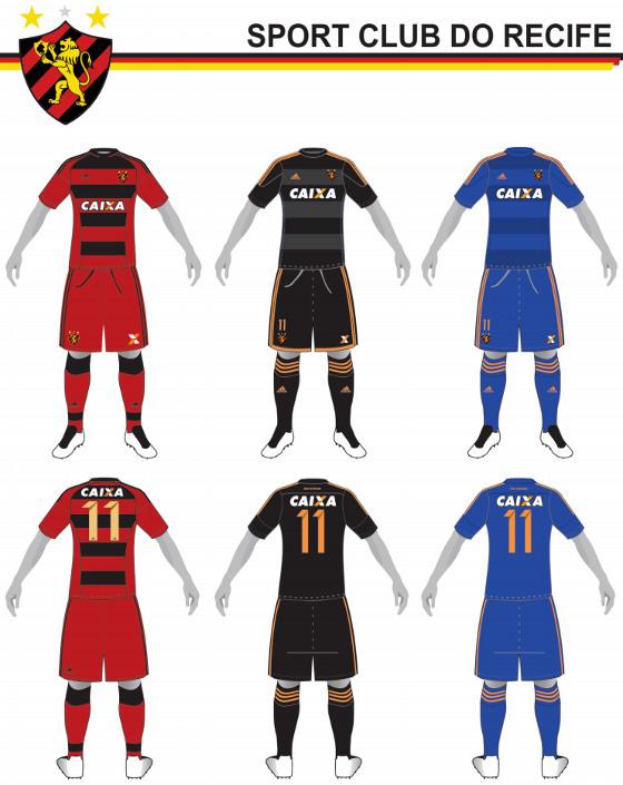 Padrões do Sport no cadastro nacional de uniformes da CBF para a temporada  2016 f5d3130c7d85a