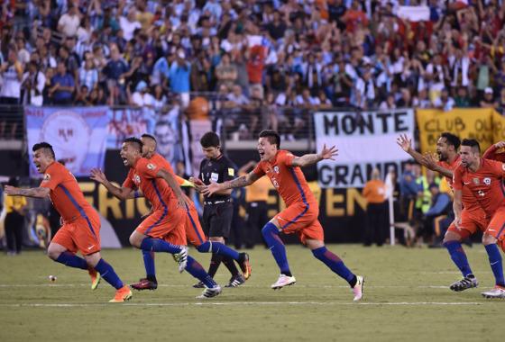 Copa América Centenário 2016, final: Argentina (2) 0 x 0 (4) Chile. Foto: Conmebol/twitter (@conmebol)