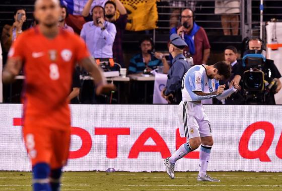 Copa América Centenário 2016, final: Argentina (2) 0 x 0 (4) Chile. Foto: Conmebol/site oficial