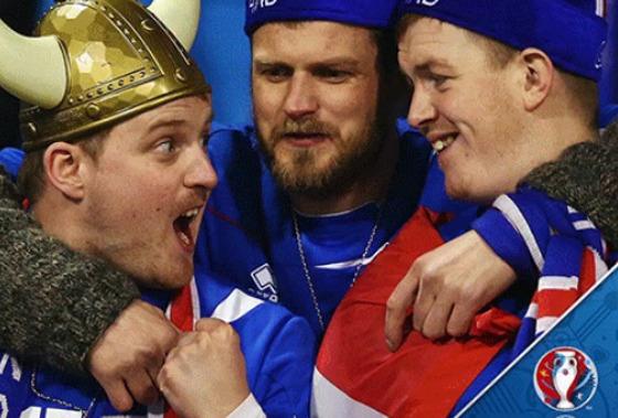 Torcida da Islândia. Foto: Eurocopa 2016/twitter (UEFAEURO_