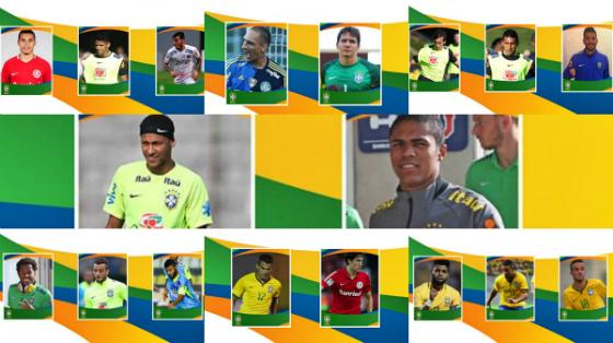 Os 18 convocados para a Seleção Olímpica de 2016. Crédito: CBF/facebook (montagem)