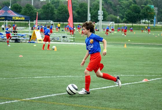 FCBEscola Soccer Camp, em Chicago. Foto: divulgação