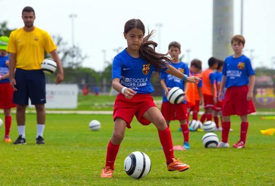 FCBEscola Soccer Camp, em Fort Lauderdale. Foto: divulgação