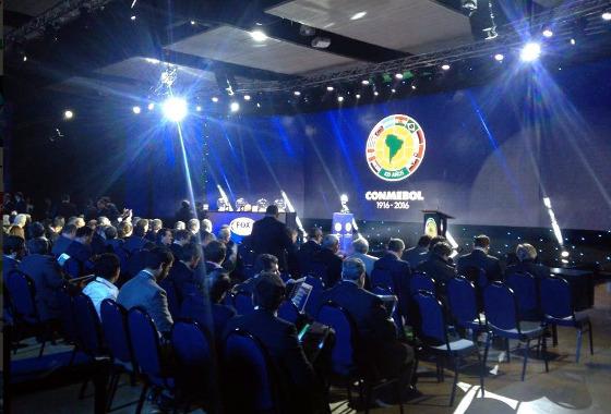 Sorteio da Copa Sul-Americana de 2016. Foto: Conmebol/twitter (@conmebol)