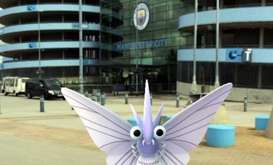 PokemonGO no Manchester City. Crédito: divulgação