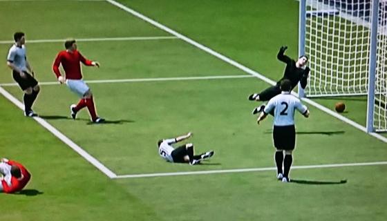 Copa do Mundo 1966, final: Inglaterra 4 x 2 Alemanha. E o polêmico gol de Geoff Hurst... numa versão 3D, via Sky Sports. Será?