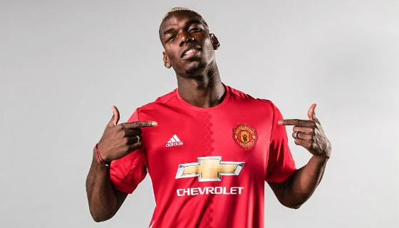 Pogba, contratado pelo Manchester United para a temporada 2016/2017. Crédito: Adidas/twitter