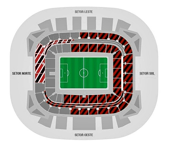 Arena Pernambuco com o clássico Sport x Santa Cruz