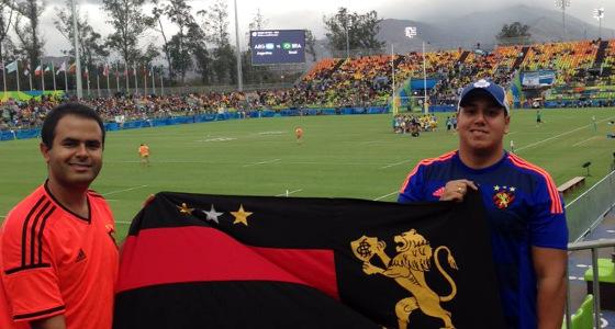 Torcedores do Sport na Olimpíada do Rio de Janeiro. Foto: Marcelo Marinheiro/twitter (@marinheiro87)