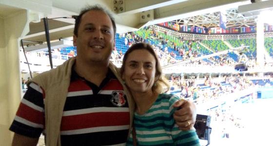 Torcedores do Santa Cruz na Olimpíada do Rio de Janeiro. Foto: Ana Paula Santos/DP