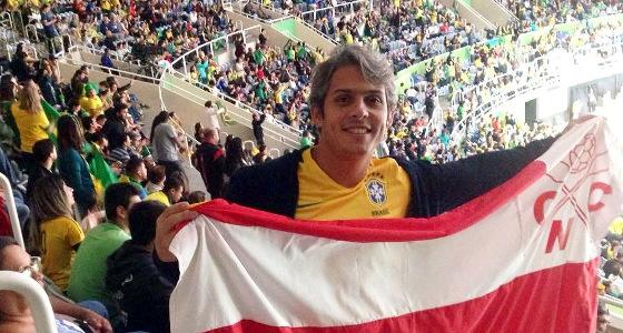 Torcedor do Náutico na Olimpíada do Rio de Janeiro. Foto: Náutico/twitter (@nauticope)