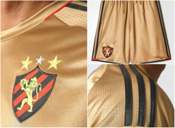 O uniforme dourado do Sport para a temporada 2016/2017
