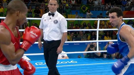 Final do boxe (peso ligeiro), com Robson Conceição, na Olimpíada 2016. Crédito: Rede Globo/reprodução