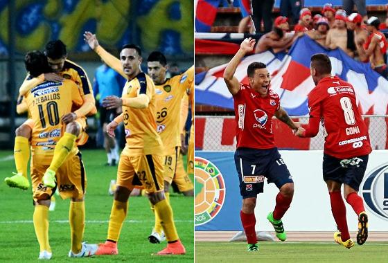 Sportivo Luqueño ou Independiente Medellín no caminho pernambucano na Sula? Fotos: Sportivo Luqueño/site oficial e Sul-Americana/facebook