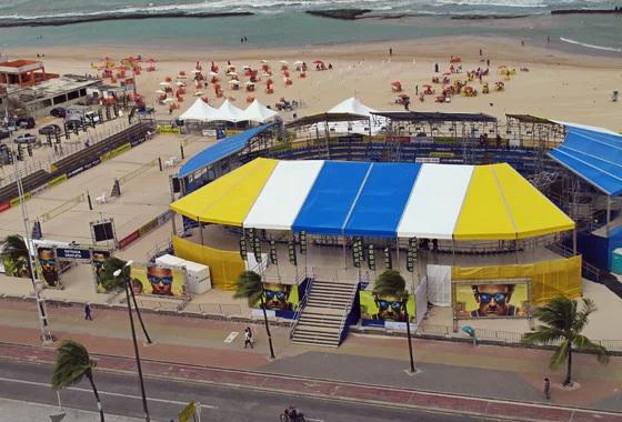 Circuito de vôlei de praia Banco do Brasil, no Recife, em 2013. Foto: CBV/divulgação