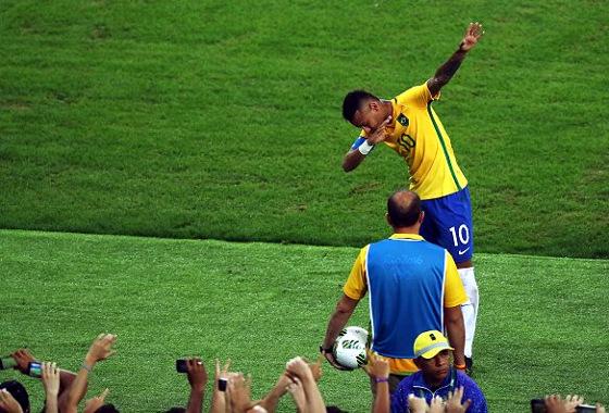 Olimpíadas 2016, final: Brasil (5) 1 x 1 (4) Alemanha. Foto: Rio 2016/twitter (@Rio2016)