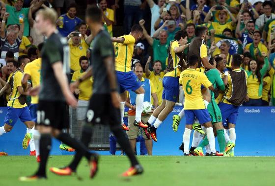 Olimpíadas 2016, final: Brasil (5) 1 x 1 (4) Alemanha. Foto: Lucas Figueiredo/MoWa Press (site da CBF)