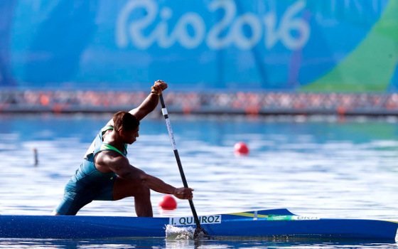 Isaquias Queiroz na Olimpíada de 2016. Foto: Rio 2016/twitter (@Rio2016)
