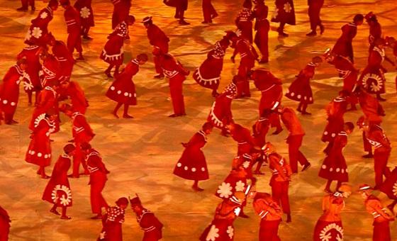 Cerimônia de encerramento dos Jogos Olímpicos de 2016, no Rio de Janeiro. Crédito: Rede Globo/reprodução
