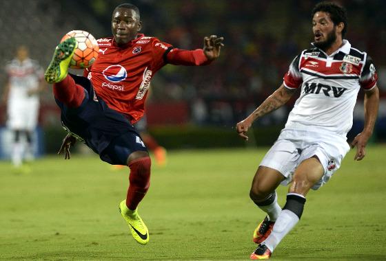 Sul-Americana 2016, oitavas de final: Independiente Medellín 2 x 0 Santa Cruz. Foto: Conmebol/twitter (@conmebol)