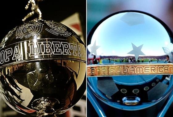 Troféus da Libertadores e da Copa Sul-Americana