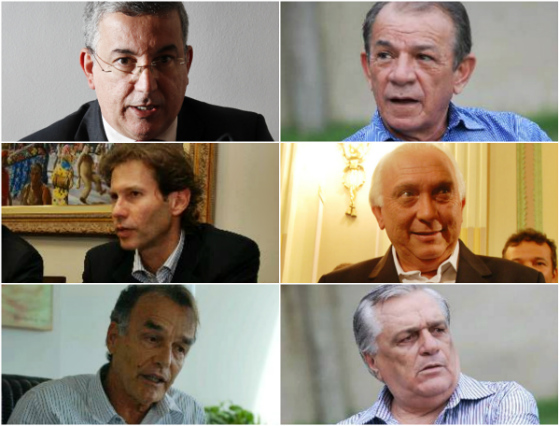 Candidatos das chapas 1 (situação, à esquerda) e 2 (oposição, à direita). Fotos: Diario de Pernambuco