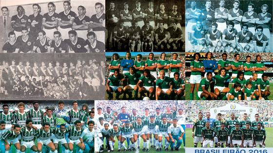 Os 9 títulos brasileiros do Palmeiras, de 1960 a 2016. Foto: Palmeiras/site oficial (www.palmeiras.com.br)