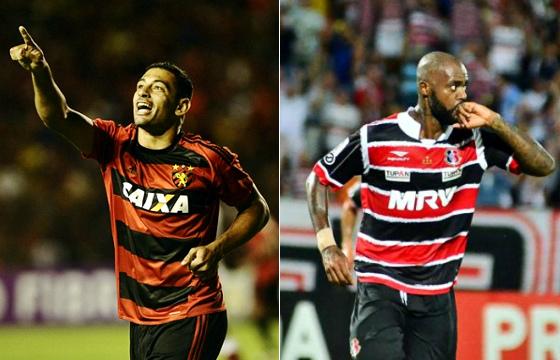 Diego Souza e Grafite, vice-artilheiros do Brasileirão 2016, com 13 gols