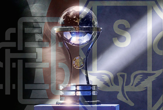 Copa Sul-Americana 2017 sem Santa Cruz e Paysandu. Arte: Cassio Zirpoli, com foto da Conmebol