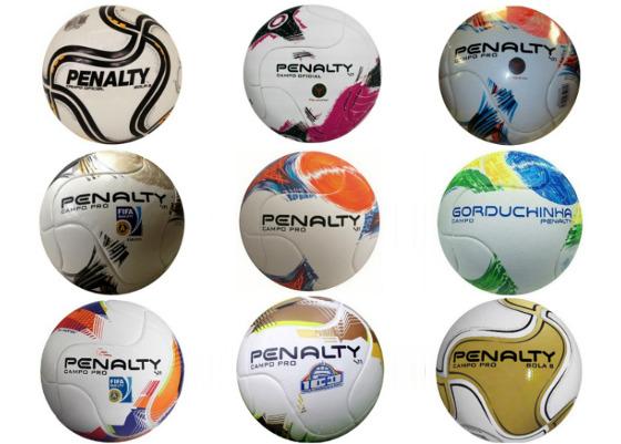 As bolas do Campeonato Pernambucano de 2011 a 2016. Imagens: Penalty (montagem de Cassio Zirpoli/DP)