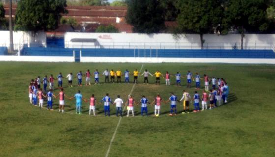 Homenagem de Cabense e Vera Cruz à Chapecoense. Foto: twitter/futebolderaizes (Augusto Fernandes)